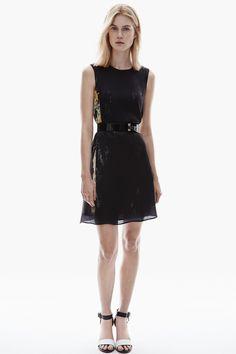 Vestido evasé con estampado geométrico - colección | Adolfo Dominguez Spring Summer 2015