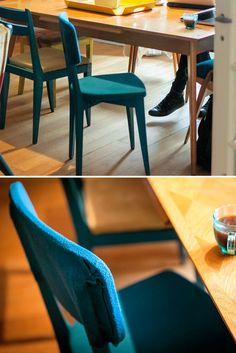 Diy on pinterest ikea hacks ikea and ikea furniture - Recouvrir chaise tissu ...