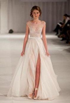 сексуальные свадебные платья, свадебное платье с разрезом