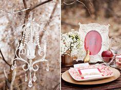 Snow White Wedding Decor & Place Setting.