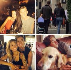 I love this Connor, Tristan and James with their girlfriends and Brad with his dog