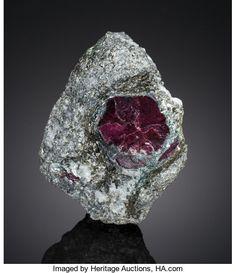 Corundum var.Ruby - Makar-Ruz, Tyumenskaya Oblast', Polar Urals, Western-Siberia, Russia Size: 8.9 x 5.7 x 5.1 cm