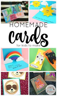 Homemade Cards for Kids to Make - How Wee Learn Teacher Birthday Card, Simple Birthday Cards, Homemade Birthday Cards, Birthday Cards For Friends, Birthday Crafts, Homemade Cards, Card Birthday, Birthday Quotes, Funny Birthday