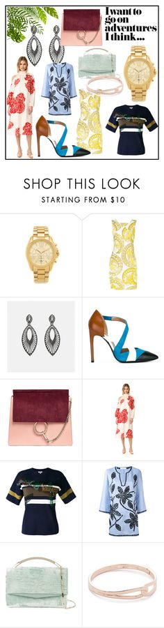 """for fashion adventure"" by kristen-stewart-2989 ❤ liked on Polyvore featuring Michael Kors, Versace, Avenue, Pollini, Chloé, TIBI, Kenzo, Tory Burch, Eddie Borgo and Kate Spade"