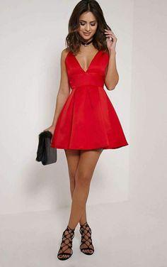 e370127fd1 Las 29 mejores imágenes de Vestidos Rojos Cortos