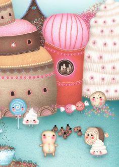 Nutcracker Folk (small print)by firefluff (Lisa Evans) on Etsy💗 Kawaii Illustration, Graphic Illustration, Illustration Styles, Norman Rockwell, Totoro, Lisa Evans, Alphonse Mucha, Evans Art, Art Tumblr