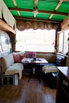 Rehabbed airstream trailer, also known as my dream travel accommodations. #camper