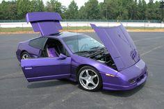 AWSOME!!    PURPLE SUPERCHARGED 3800 V6 1988 PONTIAC FIERO GT old look
