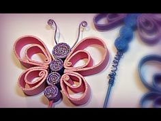 If you've got here it is because you're a curious and creative person and definitely this is your space to learn easily to all kinds of crafts,. 3d Quilling, Quilling Flowers, Butterfly Crafts, Butterfly Art, Fabric Flower Tutorial, Fabric Flowers, Diy And Crafts, Crafts For Kids, Arts And Crafts