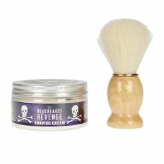 (Ad) The Bluebeards Revenge Shaving Cream & Doubloon Set 2 Pcs Men Shaving Set, Shaving Cream, Collagen Fillers, Beard Butter, Lotion For Dry Skin, Bergamot Essential Oil, Perfume, Personal Hygiene, Hair Gel