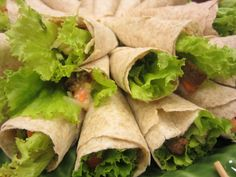Healthy Wrap with organic ham and lettuce