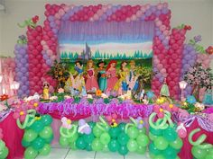 Disney princess party kids ballons decoration