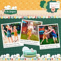 Splash Into Staycation Success With This Summer Scrapbook Layout – Creative Memories Blog Creative Memories, Staycation, Scrapbook, Success, Backyard, Blog, Fun, Cool Stuff, Summer