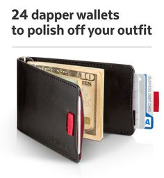"""This fella is part money clip, part wallet, and all sorts of functional."" – Business Insider http://www.businessinsider.com/dapper-wallets-2015-5 #wallets"