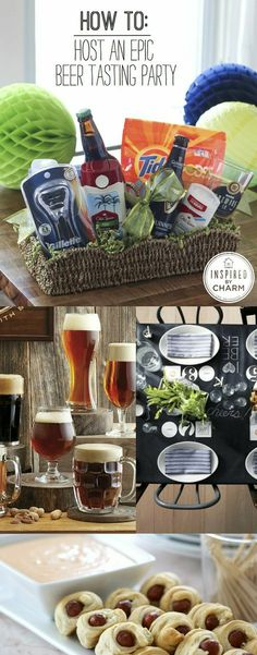 The Recipe for an Epic Beer Tasting Party! All you need to know for a delicious and flawless party. Awesome for a guys party! we love our beer in Alaska! Party Fiesta, Festa Party, Beer Tasting Parties, Wine Tasting, Coffee Tasting, Throw A Party, Party Entertainment, Snacks, Holiday Parties