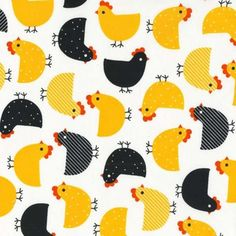 Robert Kaufman - Urban Zoologie Summer Chickens - cotton fabric