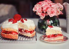 Southern strawberry short cake