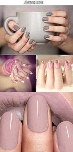 Looking for new nail art ideas for your short nails recently? These are awesome designs you can realistically accomplish–or at least ideas you can modify for your own nails! Gorgeous Nails, Love Nails, How To Do Nails, Fun Nails, Pretty Nails, Gray Nails, Neutral Nails, Matte Nails, Amazing Nails