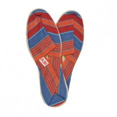 Espadrilles rayées #blue #red #shoes #summer #beach