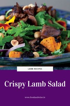 Crispy lamb salad recipe - This is a great leftover lamb dish, whether it's roast lamb or leftover shanks. Lamb Recipes, Salad Recipes, Lamb Dishes, Roast, Beef, Food, Meat, Essen, Meals