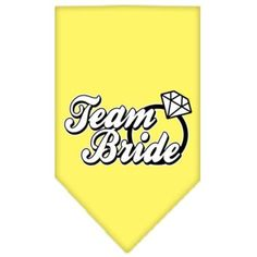 Mirage Pet Products Team Bride Screen Print Bandana, Small, Yellow *** Find out more details by clicking the image : Dog Apparel and Accessories