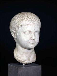 A Roman Marble Head of a Geta as a Boy Origin: Mediterranean Circa: 220 AD to 250 AD