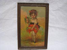 Victorian Flower Gathering Girl Print In by thelongacreflea, $24.00