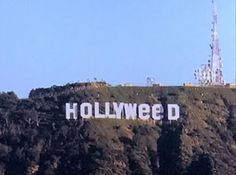 Prankster changes the Hollywood sign to Hollyweed in New Year's Eve prank