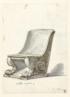 Jacques Louis David | Chair in Villa Negroni, Jacques Louis David, c. 1775 - c. 1780 |