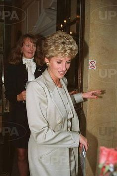 September 26 1994 Diana attends a charity lunch for the launch of Child Bereavement Trust at the Royal College of Nursing in Cavendish Square  in London. Catherine Soames is with her