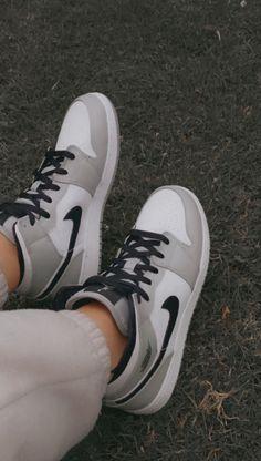 Cute Nike Shoes, Cute Sneakers, Nike Air Shoes, Shoes Sneakers, Gray Nike Shoes, Nike Air Jordans, Jordans Sneakers, Jordan Shoes Girls, Jordans Girls