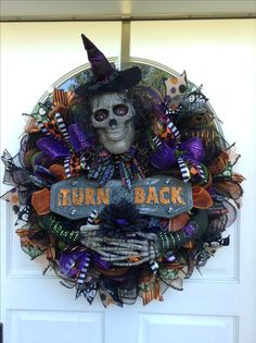 Halloween wreath I made for my son/ daughter in law's door...need one for me now!
