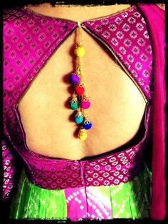 Enhance your saree blouse or punjabi suits with latkan / tassel