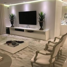 40 tv wall living room ideas decor on a budget 2 Living Room Tv Unit, Living Room Decor Cozy, Ideas For Living Room, Room Ideas, Design Case, Wall Design, Home Interior Design, Home And Living, Living Room Designs