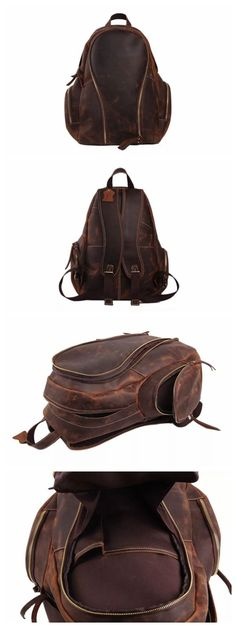 7c6f35864 Handcrafted Genuine Leather Backpack Travel Backpack