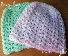 Mammy Made: Preemie/newborn fancy hat free crochet pattern