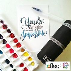 #filedxcalligrafikas Paper: Canson 200gsm Paint: Daniel Smith watercolors Brush: @craftdoodleph waterbrush