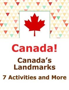 Landmarks of Canada - 7 Activities Plus Geography Of Canada, Canadian Identity, Posters Canada, Shape Books, Book Organization, School Posters, Lessons For Kids, Upper Elementary, Interactive Notebooks