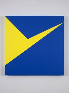 Blue with White Line | Carmen Herrera | Artists | Lisson Gallery