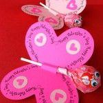 Homemade Valentines Butterfly + Tootsie Roll Lollipop #Valentines #DIY