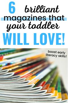 Reading toddler magazines can be a great way to switch up story time. Repurpose your magazines for fun and easy crafts later on.