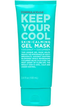 Formula 10.0.6 | Keep Your Cool | Skin-Calming Gel Mask | Coconut + Cucumber