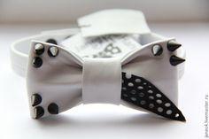 Не совсем обычные галстуки-бабочки из кожи