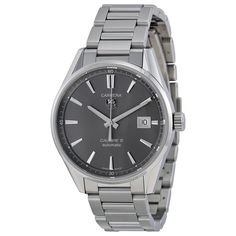 Tag Heuer Carrera Anthracite Dial Stainless Steel Men's Watch WAR211CBA0782 - Carrera - Tag Heuer - Shop Watches by Brand - Jomashop