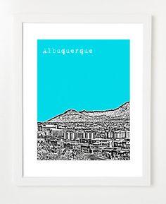 Albuquerque print on Etsy - $20