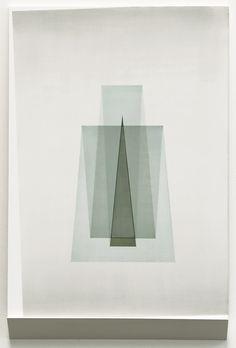 Kristy Gorman, Free Form (Green), ink on board, 450 x 300 mm including shelf New Zealand Art, Visual Communication, Triangle, Shelf, Ink, Board, Green, Painting, Shelving