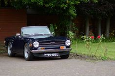 Triumph TR6 at TSSC HQ Lubenham Open Gardens Weekend