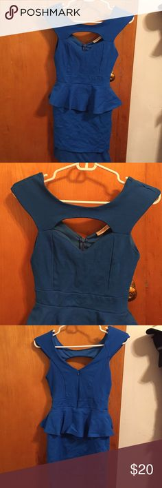 Blue dress! Only worn once Super cute blue dress from Arden B. Only worn it once. It fits super well! Only thing it shrunk at the bottom therefore the under garment part shows a little but it can be fixed easily by cutting it or getting it professionally altered. Super nice quality this dress wasn't cheap! Arden B Dresses