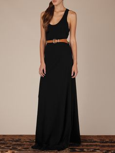 simple black maxi dress--can't go wrong.