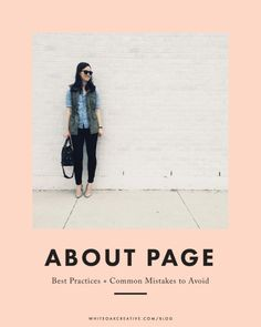 Writing an About Page**